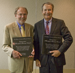 John E. Beras and Don M. Schmidt Receiving the Distinguished Municipal Attorney Award